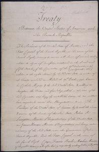 Der Vertrag zwischen den Vereinigten Staaten von Amerika und der Französischen Republik für den Kauf der Kolonie Louisiana.