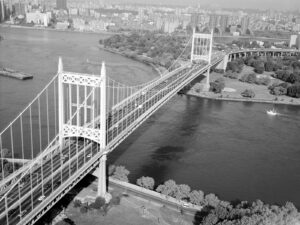 Triborough Bridge in New York, completed in 1936.