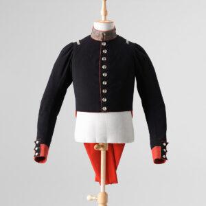 Frack einer Uniform des Schweizerregiments in Holländischen Diensten (1815-1828).