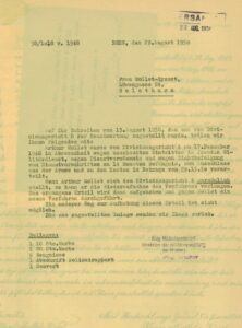 Letter relating to a court judgment against a Foreign Legionnaire, 1950.