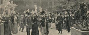 Un Jour de vernissage au Salon de Paris 1890 par Jean-André Rixens.
