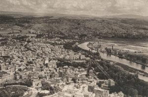 Vichy vue à vol d'oiseau, vers 1945.