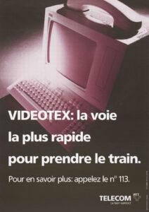 Publicités pour le Vidéotex dans les années 1980.