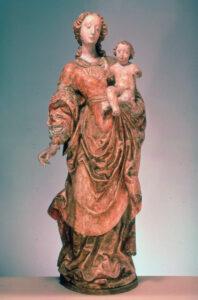 Sculpture de Jean-François Reyff, Vierge à l'Enfant, vers 1640.