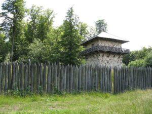 Rekonstruierter römischer Wachturm.