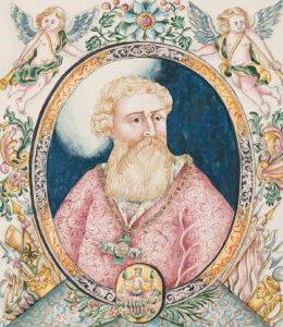 Portrait d'Hans Waldmann. Aquarelle du 18ème siècle.