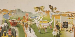 Print of Erni's 'Landi' picture Die Schweiz, das Ferienland der Völker (Switzerland, Vacation Land of the People).