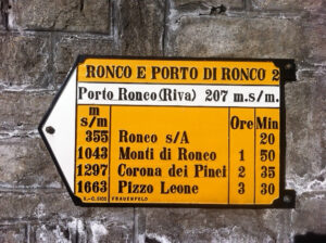 Signposts produced by Sigg still lead the way across Ticino.