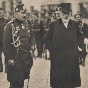 Kaiser Wilhelm II and President of the Swiss Confederation Ludwig Forrer in Zurich in 1912.