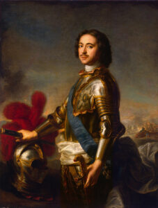 Portrait of Tsar Peter I, also known as Peter the Great.