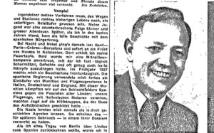 The 'hero' of Spain told his story in Weltwoche magazine in 1945.