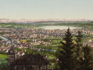 Panorama of Zurich, beginning of the 20th century.