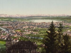 Vue panoramique de Zurich, début du XXe siècle.